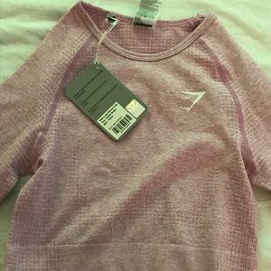 NWT Gymshark Vital Pink/Pastel Grape Crop Top